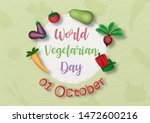 variety of vegetables with the... | Shutterstock .eps vector #1472600216
