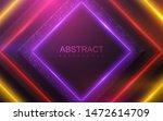 neon glowing light. geometric...   Shutterstock .eps vector #1472614709