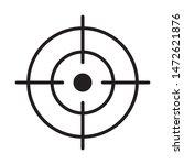 focus icon  line vector symbol | Shutterstock .eps vector #1472621876