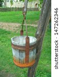 Old Wooden Bucket For The Well