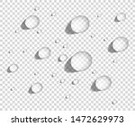 clear round water drops on... | Shutterstock .eps vector #1472629973