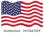 waving american flag background ... | Shutterstock .eps vector #1472667059