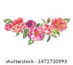 vintage watercolor greeting... | Shutterstock . vector #1472720993
