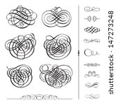 vector ornament set. easy to... | Shutterstock .eps vector #147273248