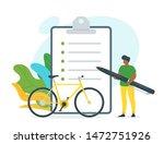 bicycle rent contract vector... | Shutterstock .eps vector #1472751926