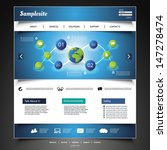 website template   Shutterstock .eps vector #147278474
