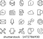 set of contact icons  bubble ... | Shutterstock .eps vector #1472786930