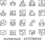 set of training icon  meeting ... | Shutterstock .eps vector #1472786933