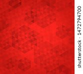abstract red mosaic background. ... | Shutterstock . vector #1472794700