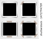 set of retro photo frames with... | Shutterstock . vector #1472794709