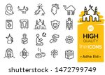Adha Eid Icons Set Including...