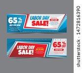 modern labour day web banner... | Shutterstock .eps vector #1472816390