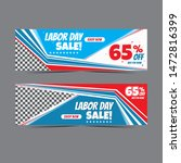 modern labour day web banner... | Shutterstock .eps vector #1472816399