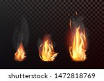 set of realistic fire flames... | Shutterstock .eps vector #1472818769