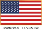 united states of america flag... | Shutterstock .eps vector #1472822750