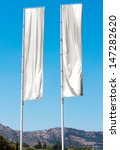 two empty vertical banners.... | Shutterstock . vector #147282620
