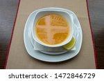 mercimek corbas   lentil soup... | Shutterstock . vector #1472846729