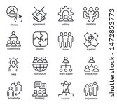 team work line art icon set ... | Shutterstock .eps vector #1472853773