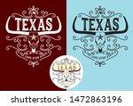 texas longhorn with nickname... | Shutterstock .eps vector #1472863196