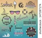 summer vintage elements   Shutterstock .eps vector #147287174