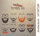 title  set of beards   Shutterstock .eps vector #147287189