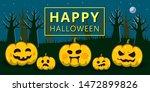 happy halloween. pumpkins in a... | Shutterstock .eps vector #1472899826
