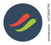 chili peppers flat icon.you can ...