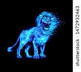 raster version. aggressive lion ...   Shutterstock . vector #1472932463