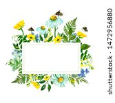 Watercolor Wild Flowers Frame....