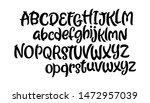 vector hand drawn typeface.... | Shutterstock .eps vector #1472957039
