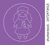 vector doll. toy  handmade ... | Shutterstock .eps vector #1472973413