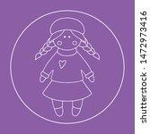vector doll. toy  handmade ... | Shutterstock .eps vector #1472973416