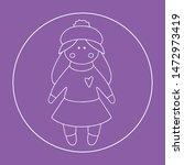vector doll. toy  handmade ... | Shutterstock .eps vector #1472973419
