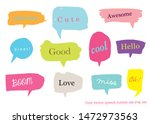 hand drawn set of colorful... | Shutterstock .eps vector #1472973563