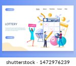 Stock vector lottery vector website template web page and landing page design for website and mobile site 1472976239