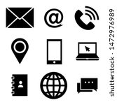 contact us flat icon. vector   | Shutterstock .eps vector #1472976989