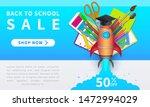 back to school sale  horizontal ... | Shutterstock .eps vector #1472994029