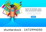 back to school sale and... | Shutterstock .eps vector #1472994050