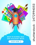 back to school and discount... | Shutterstock .eps vector #1472994053