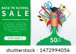 back to school sale banner ... | Shutterstock .eps vector #1472994056