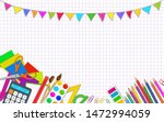 back to school posters template ... | Shutterstock .eps vector #1472994059