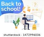 student using desktop computer... | Shutterstock .eps vector #1472996036