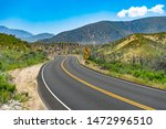 Curved Mountain Road With 30...
