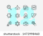 science line icon set. set of... | Shutterstock .eps vector #1472998460