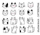 cute cat doodle style... | Shutterstock .eps vector #1473002966