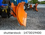 Two Orange Snow Digger Bucket....