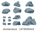 rock stone big set cartoon....   Shutterstock .eps vector #1473050423