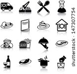 restaurant related icons ...
