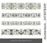 set of decorative ancient... | Shutterstock .eps vector #1473078209