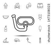 googles tube icon. simple thin...